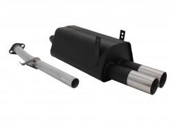 JOM compatible avec BMW E36 316i/ 318i, 2 x 76 mm RL-Design Silencieux arrière / Pot d'echappement certifié ABE - Qualité Allemande.