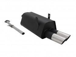 JOM compatible avec BMW E36 316i/ 318i, Silencieux arrière / Pot d' Échappement certifié ABE - Qualité Allemande.