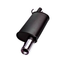 Endschalldämpfer, 1 x 76 mm, mit ABE passend für Fiat Seicento 0,9/ 1.1/ Sporting