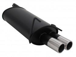 Endschalldämpfer, 2 x 76 mm, mit ABE passend für Mercedes C-Klasse W202 C180/ C200/ C220/ C240/ C200D/ C200K/ C230K Bis 2000