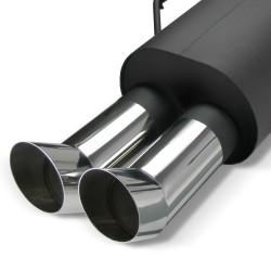 Stahl-Endschalldämpfer mit 2x 76mm DTM-Look Endrohren passend für Peugeot 206 (Typ2)
