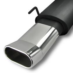 Stahl-Endschalldämpfer mit oval DTM-Look Endrohr passend für VW Golf 3 und Golf 4 Cabrio (nicht passend bei Syncro Modellen)
