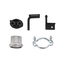 Stahl-Endschalldämpfer mit 2x 76mm Endrohr gerade passend für BMW 5er F10 Limousine und F11 Touring ab Bj. 2010 -