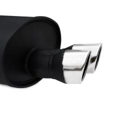 Stahl-Endschalldämpfer mit 2x 76mm Endrohren gerade passend für BMW 5er F10 Limousine und F11 Touring ab Bj. 2010 -
