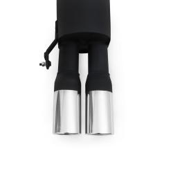 Stahl-Endschalldämpfer mit 2x ovalen Endrohren gerade passend für Skoda Fabia 6Y und 5J