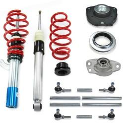 RedLine Gewindefahrwerk mit Domlagern und Koppelstangen passend für VW Golf 5 1.4, 1.4 TSi, 1.6, 2.0, 2.0T / DSG, 1.9TDi Baujahr 2003 - 2008, nicht geeignet für Modelle mit Allradantrieb